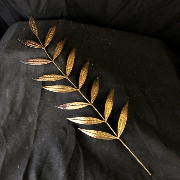 Piuma palma del martirio Metallo Bagno Oro 31 Cm Bambino S. Caterina Sacred Art