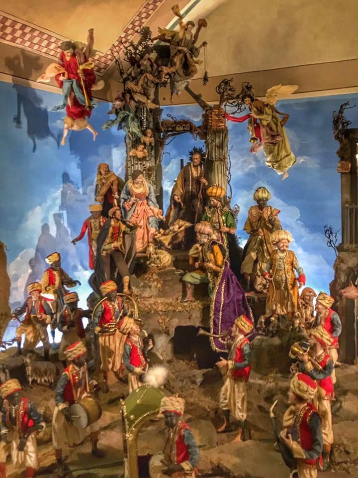 Arte presepiale di Fabio Paolella al centro storico di Napoli