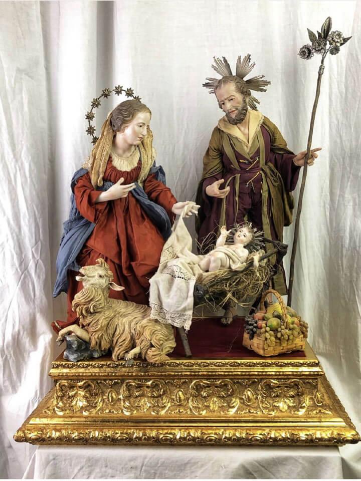 Statue della Madonna San Giuseppe e Gesù bambino