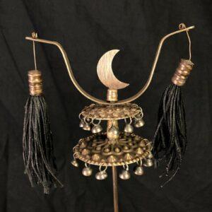Cevgen usato per scene di orientali adatto come accessorio per un personaggio 43/40 cm ottone Misure 44 cm
