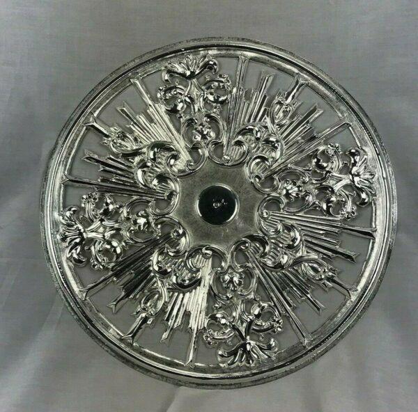 aureola traforata per santi lamina di ottone cesellata a mano Misure 38 cm